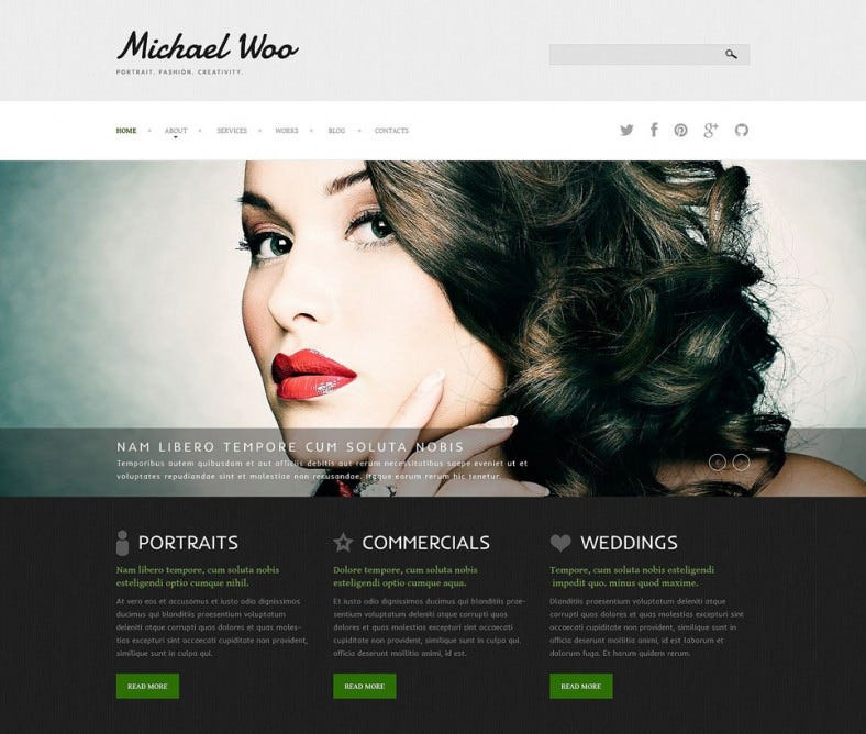 photo artist portfolio joomla theme 75 788x668