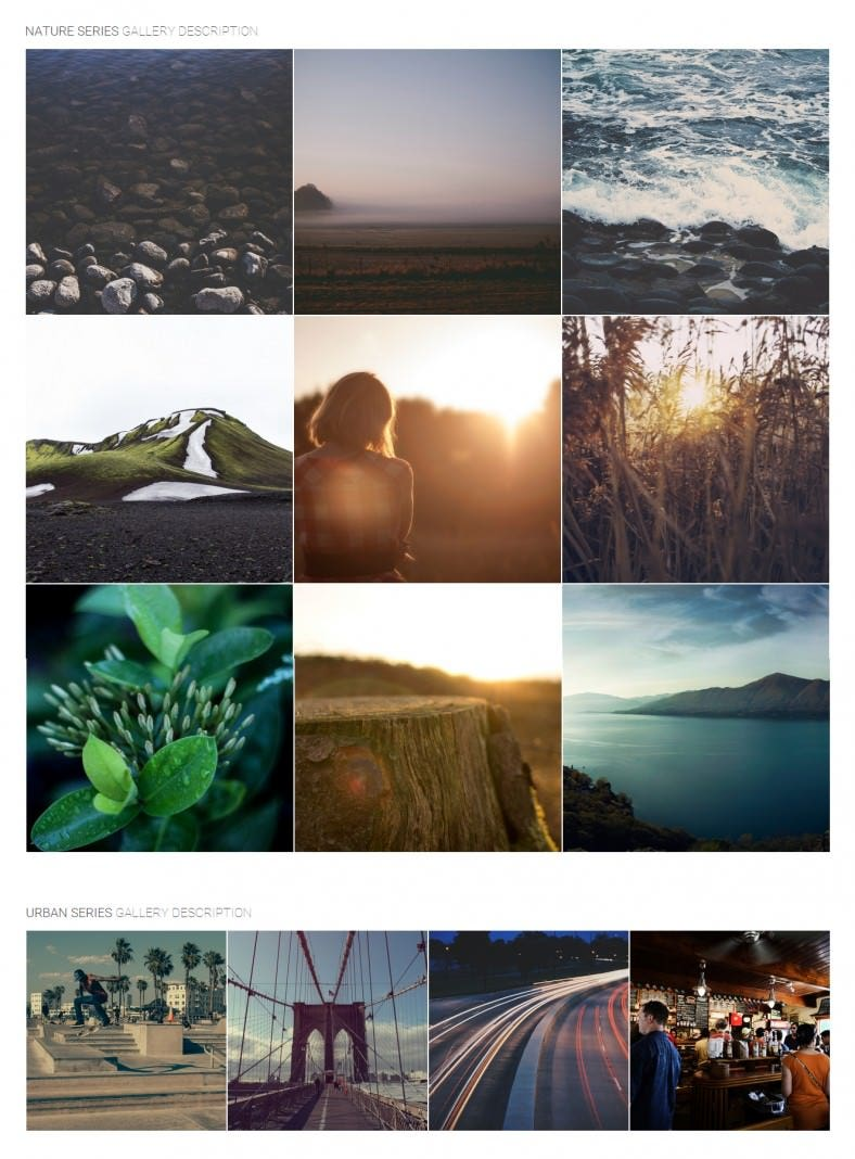 photo gallery html template 788x1068