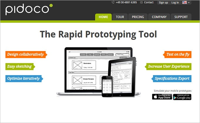 pidoco cloud based ux design tool