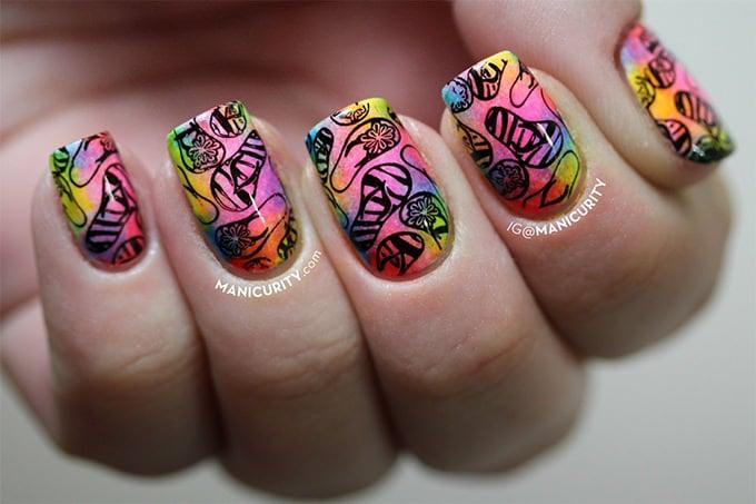 pink summer nail design