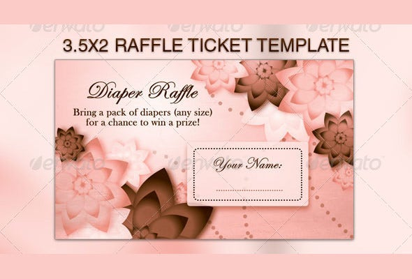 pink and brown backgrounds raffle flyer