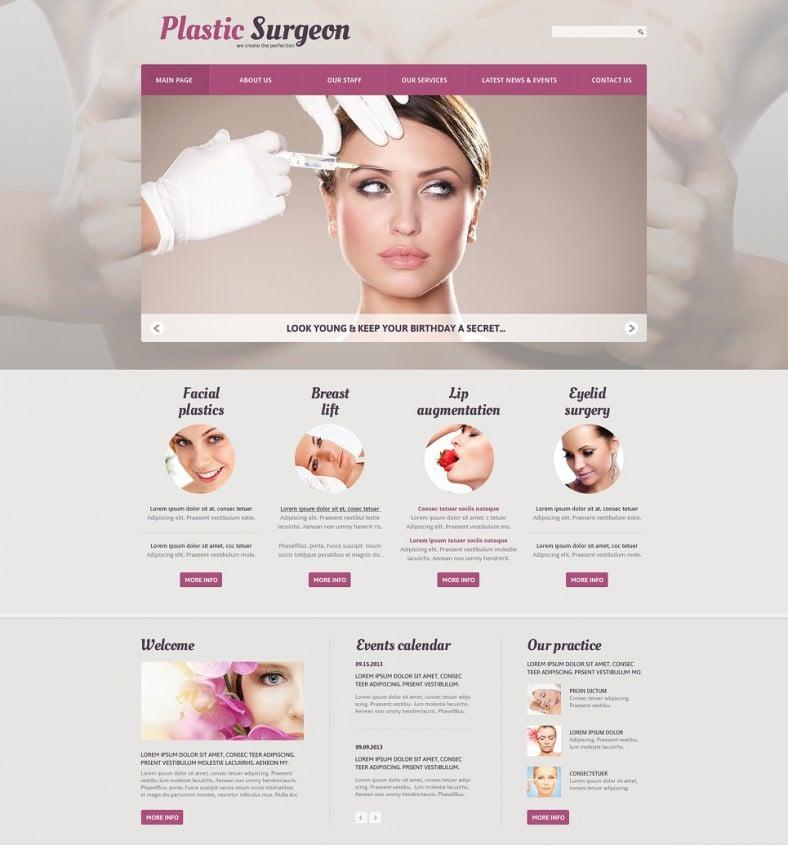 plastic surgery responsive joomla template 75 788x845