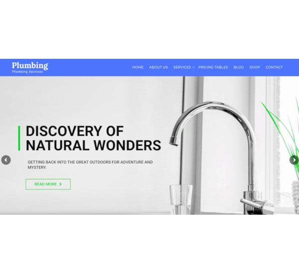 plumber repair services wp theme
