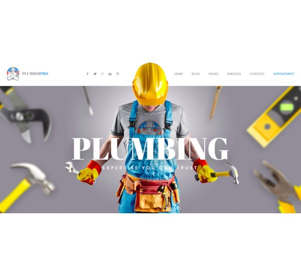 plumberplus handyman services wordpress theme