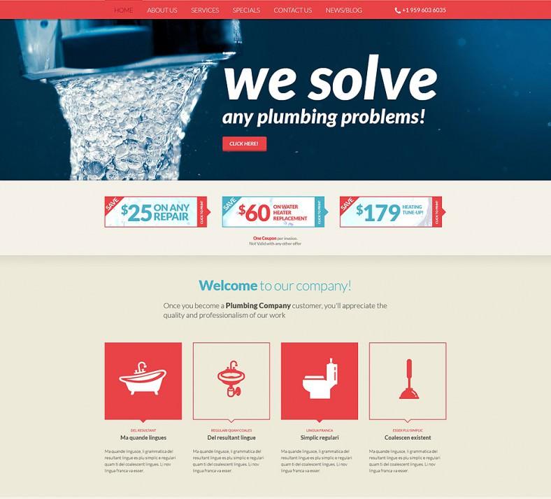 plumbing services online joomla theme 75 788x713