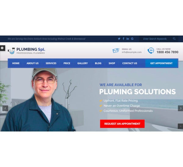 plumbing spl plumber wordpress theme