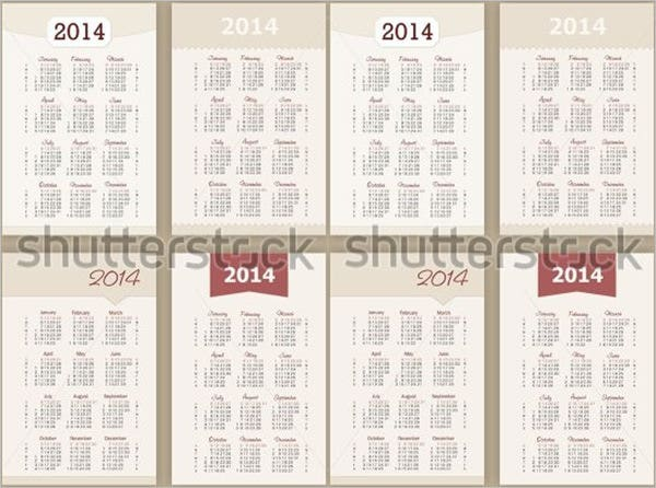pocket calendar template 1