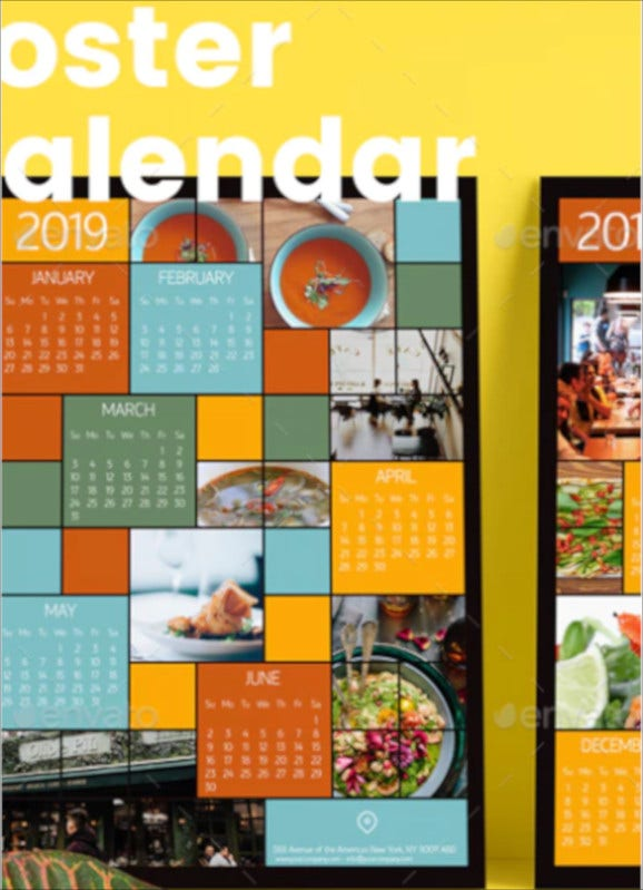 pocket calendar template set1