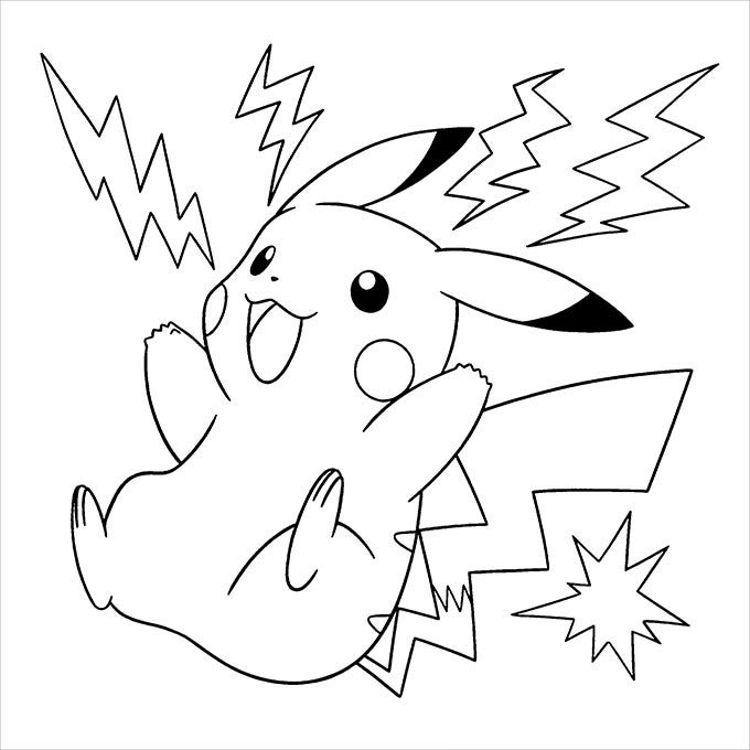 pokemon pickachu coloring pages