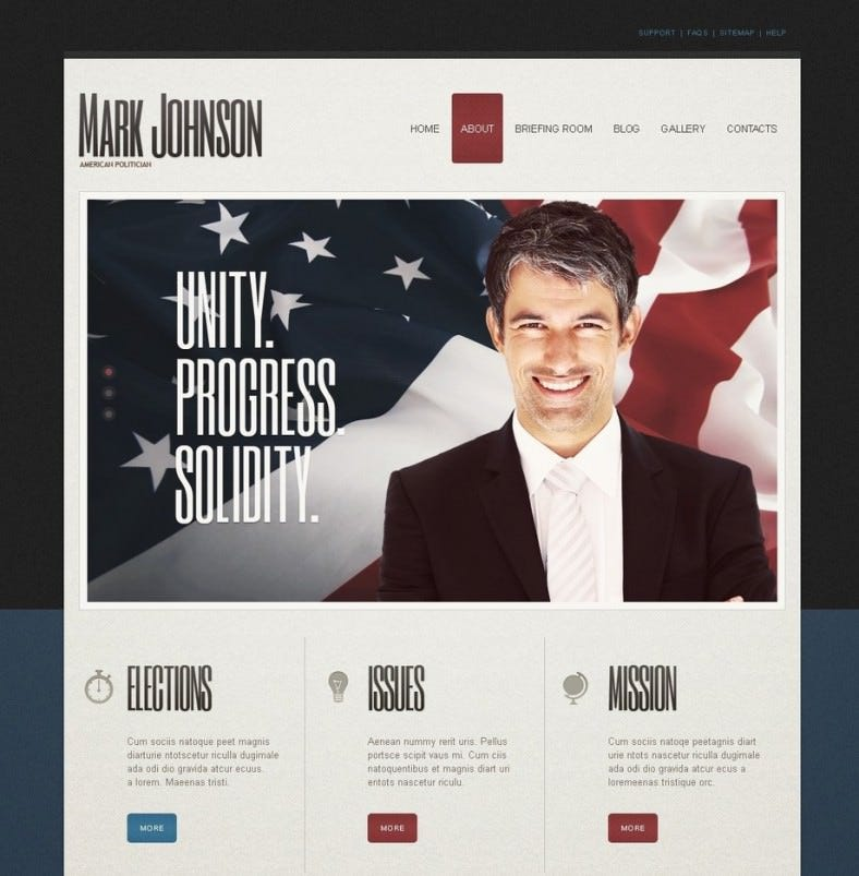 political candidate joomla template 67 788x803