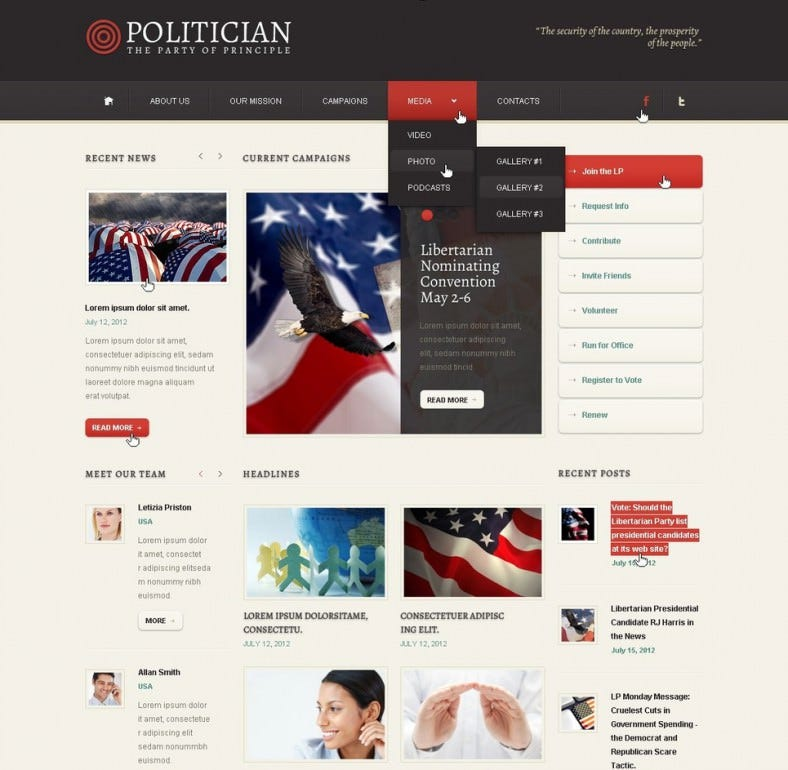 political party wordpress theme download 67 788x770