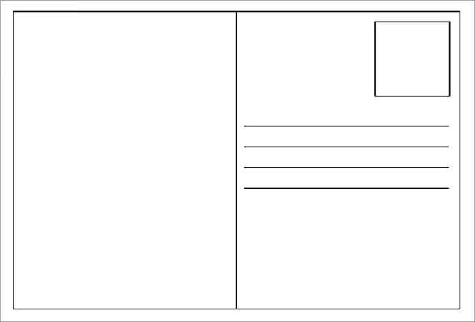 Blank Postcard Template – Free Postcard Templates for Word