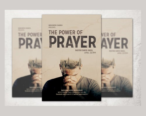 prayer conference poster template