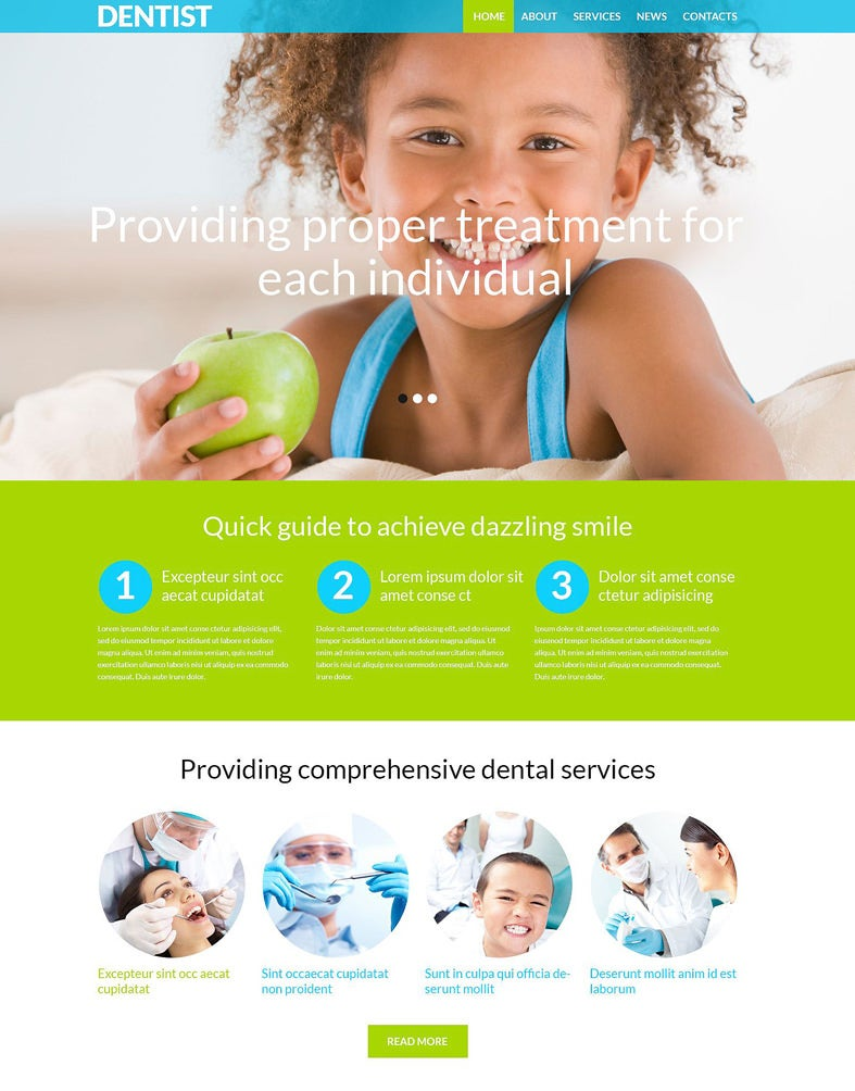 premium dental clinic wordpress theme