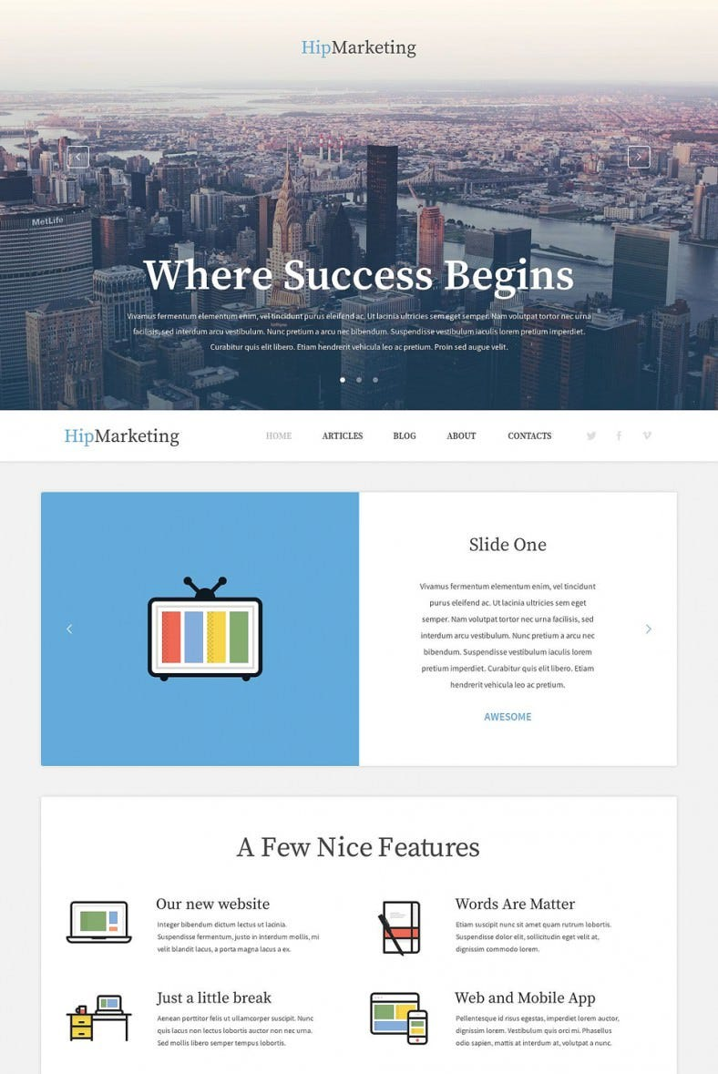 premium marketing agency wordpress template 788x1179