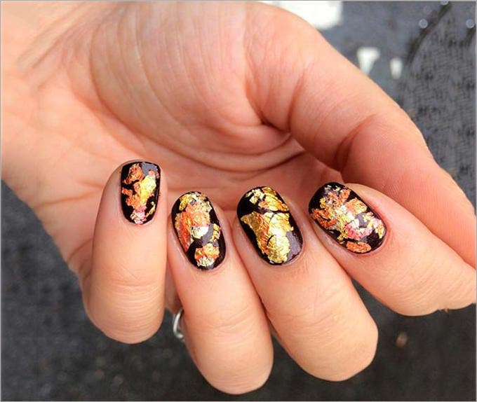 pretty fall nail design1