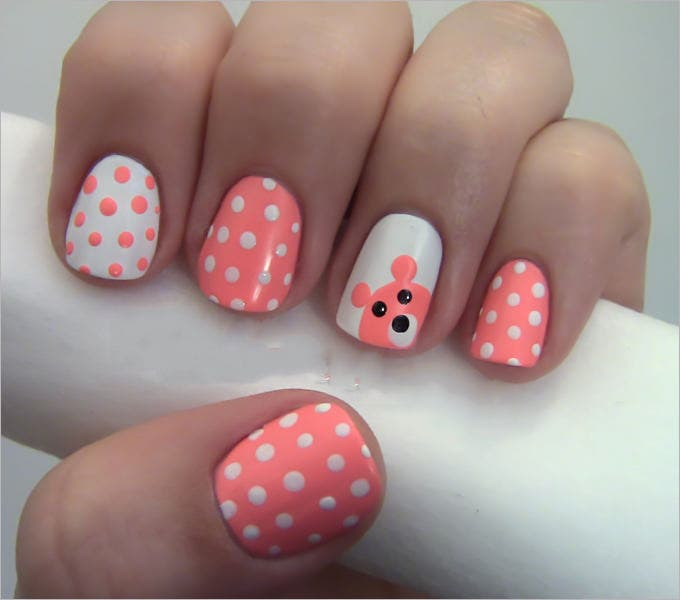 pretty gel nail design
