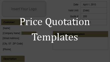 price quote templates free .
