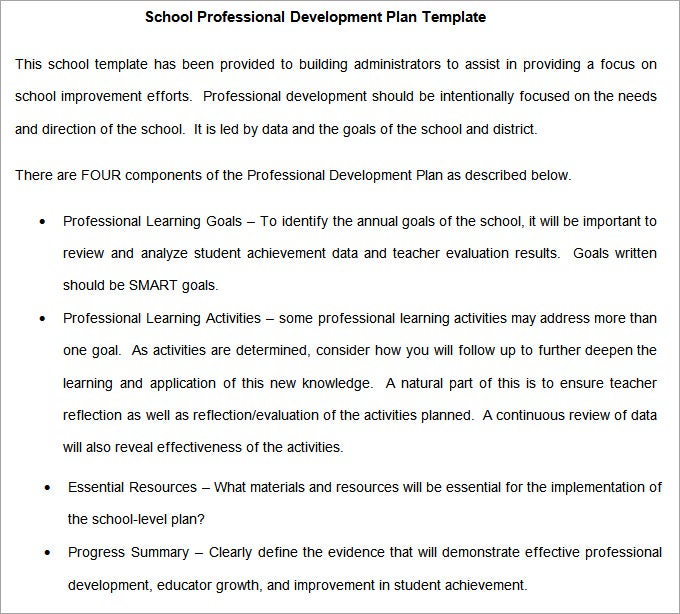Primary School Development Plan Template