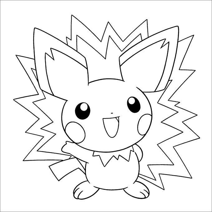 Colouring Picture Templates : Pokemon coloring pages free printable jpg pdf