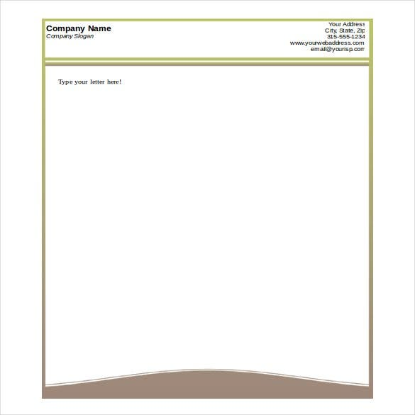 printable design letterhead free word format template