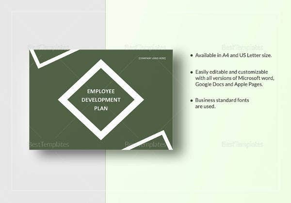 printable employee development plan template