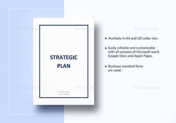 Printable Strategic Plan Template In Word
