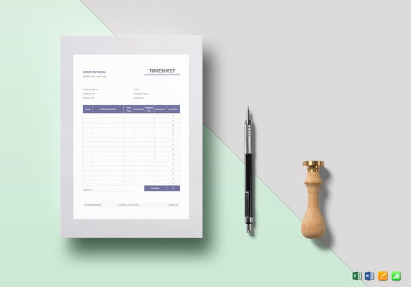 printable timesheet template