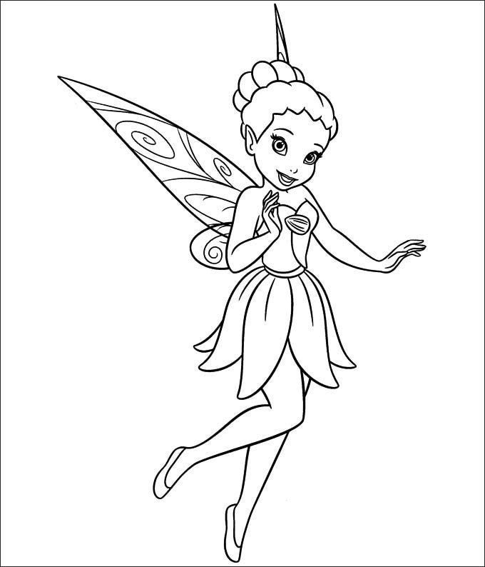 baby tinkerbell coloring pages - photo#27