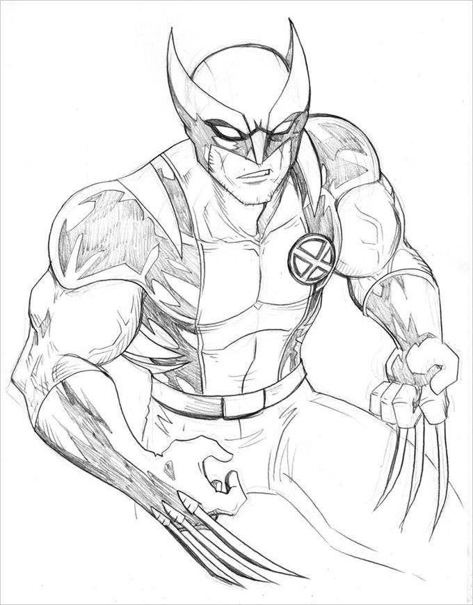 printable wolverine coloring pages1