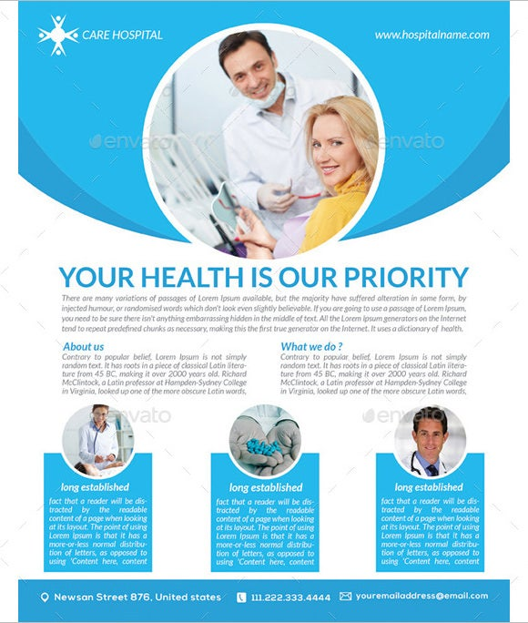 priority medical poster template - Free Poster Design Templates