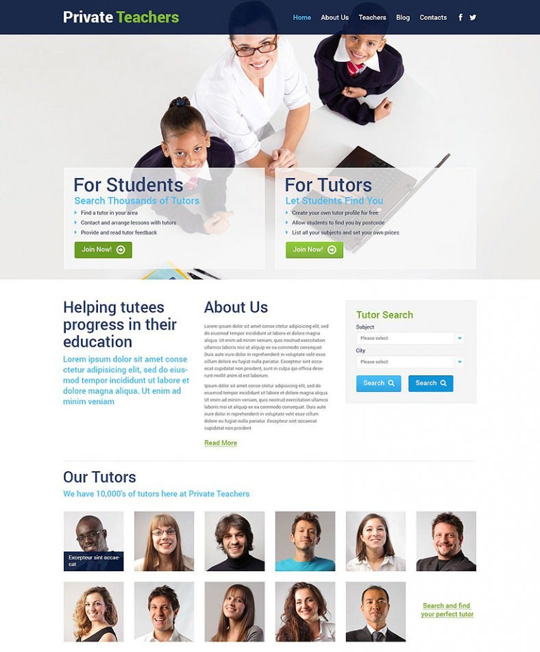 private teachers wordpress theme 75 788x952
