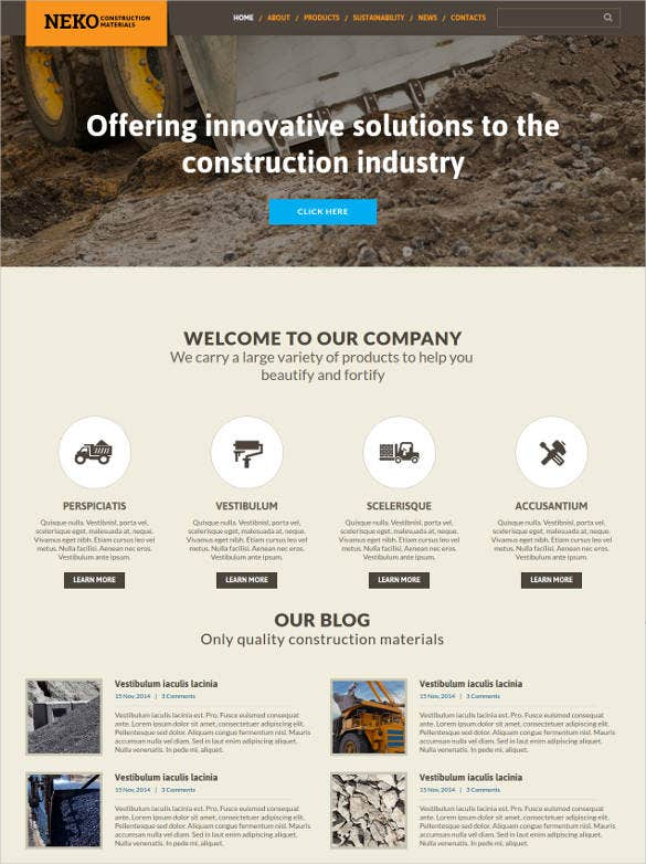 professional civil engineering responsive website template
