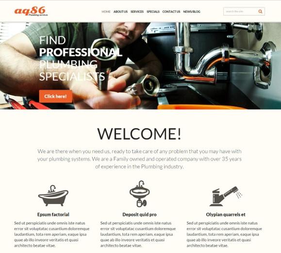 professional plumbing joomla template1
