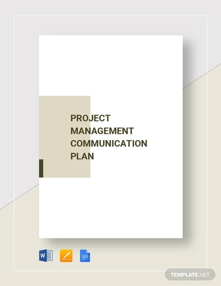 project management communication plan