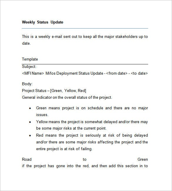 Weekly Status Report Template 14 Free Word Documents Download – Status Report Template Word