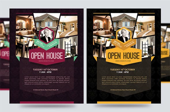 Perfect Promotion Open House Flyer Template Within Open House Flyers