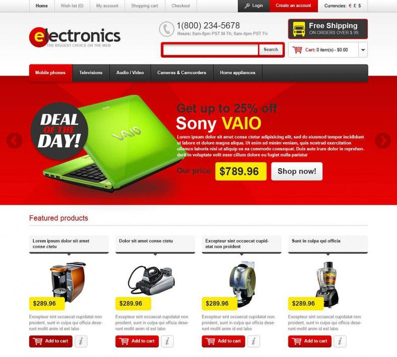 quality electronics opencart template1 788x708