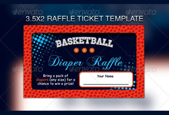 Raffle Flyer Template 21 Free PSD EPS AI InDesign Format – Ball Ticket Template