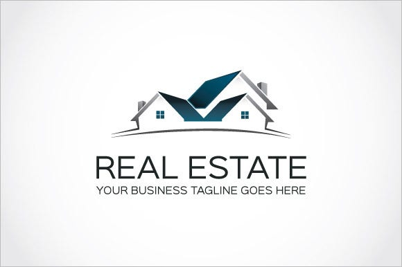 real business construction company logo