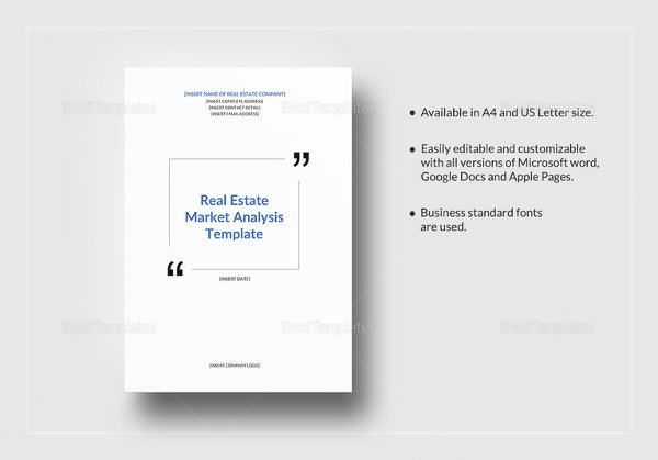 Market Analysis Template   Free Word Pdf Documents Download