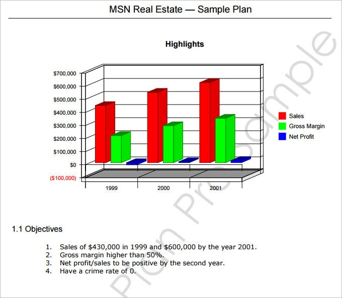 real estate marketing plan template free download