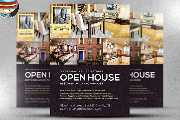 open house flyers samples