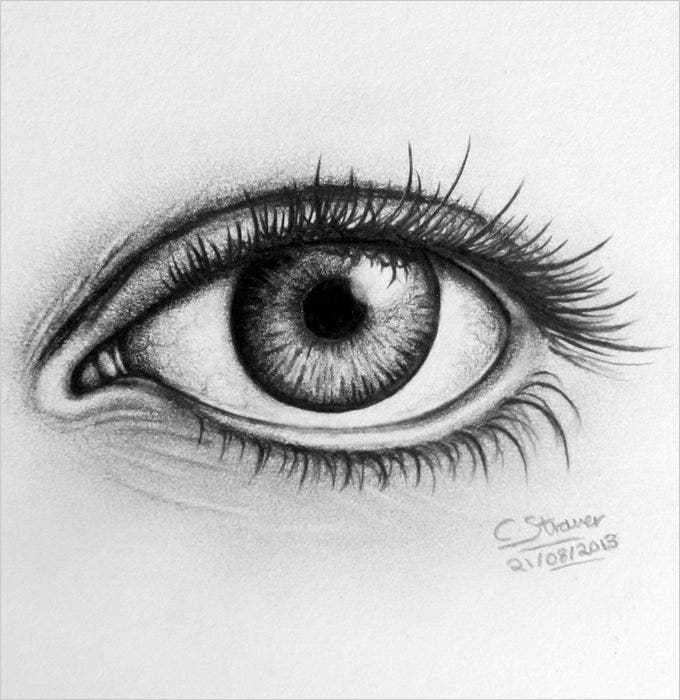 25 Eye Drawings Free PSD Vector EPS Download