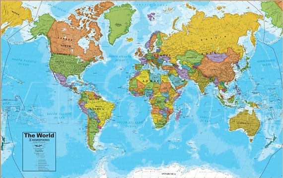picture regarding Free Printable World Maps known as 30+ Global Map PSD Posters - Absolutely free PSD Posters Down load No cost