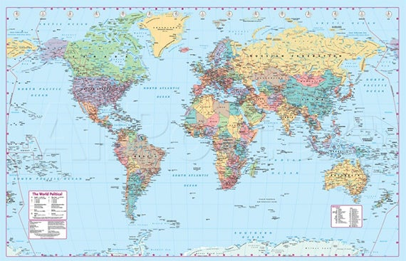 30 world map psd posters free psd posters download free realistic world map poster gumiabroncs Images