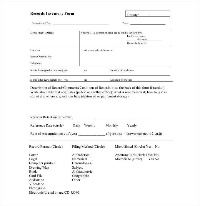 records-inventory-form-sample