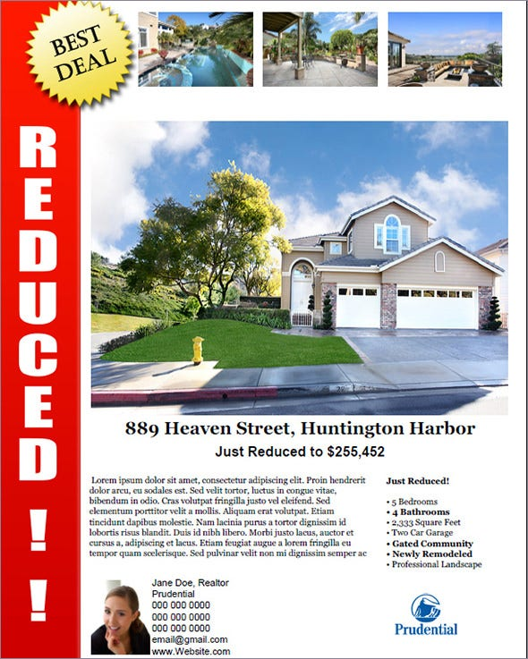 reduced open house flyer template