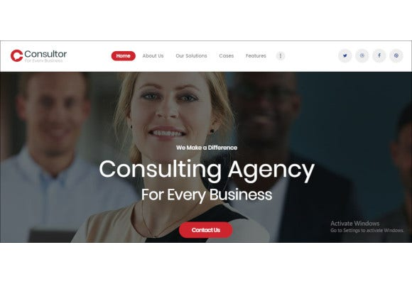 responsive business consulting wordpress theme