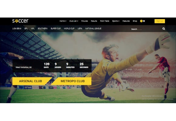 responsive football wordpress theme1